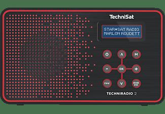 TECHNISAT TECHNIRADIO 2 Radio, Digital, FM, DAB+, DAB, Schwarz/Rot