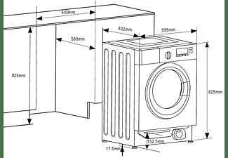 AMICA EWA 34657 W Waschmaschine (8 kg, 1400 U/Min.)