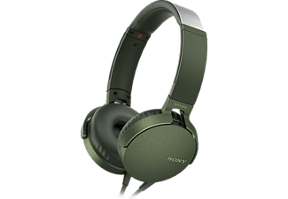 SONY MDR-XB550AP, On-ear Kopfhörer Grün