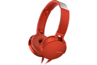 SONY MDR-XB550AP, On-ear Kopfhörer Rot