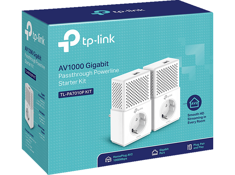 Powerline Adapter TP-LINK TL-PA7010P KIT AV1000