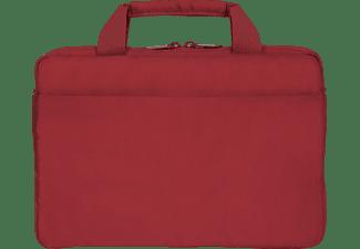 DICOTA Slim EDGE Notebooktasche Umhängetasche für Universal Polyester, Rot