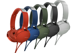 Auriculares - Sony MDR-XB550APB.CE7, EXTRA BASS, Manos Libres, Negro