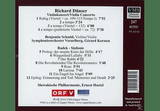 Schmid,B./Symphonieorchester Voralrberg/Korsten,G. - Radek Sinfonie  - (CD)