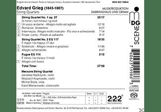 Meccore String Quartet - Streichquartette 1 & 2,Fuge EG 114  - (SACD Hybrid)