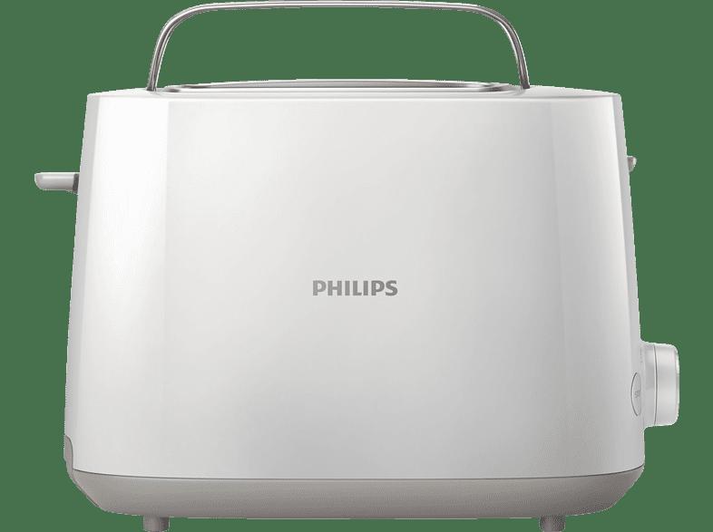PHILIPS HD 2581/00 Daily Collection Toaster Weiß (830 Watt, Schlitze: 2)