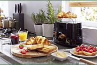 PHILIPS HD 2581/90 Daily Collection Toaster Schwarz (830 Watt, Schlitze: 2)