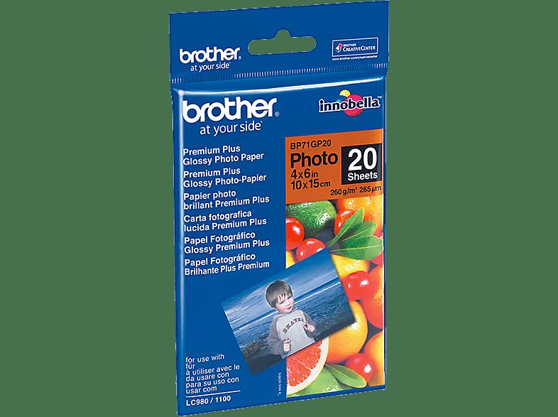 BROTHER 10 cm x 15 cm glanzend papier (BP71GP20)