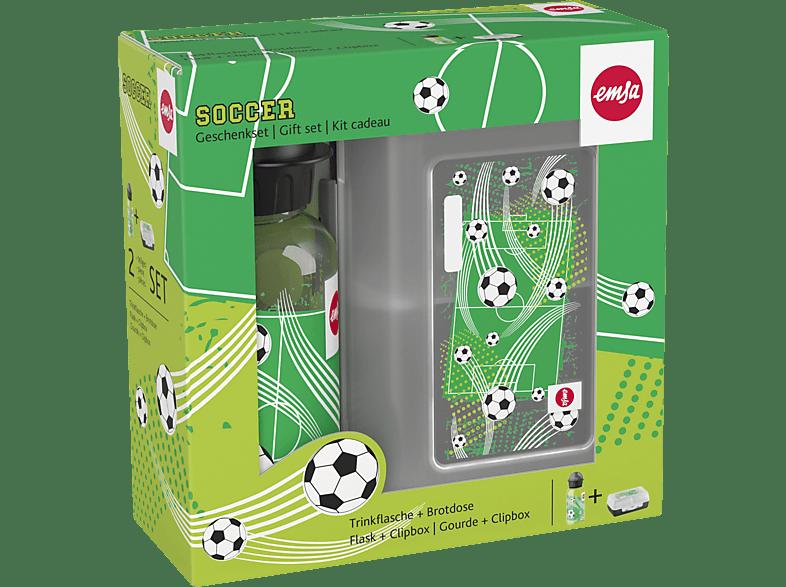 EMSA 518140 Soccer Lunchbox mit Trinkflasche