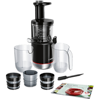 BOSCH MESM731M Slow Juicer 150 Watt, Schwarz/Transparent
