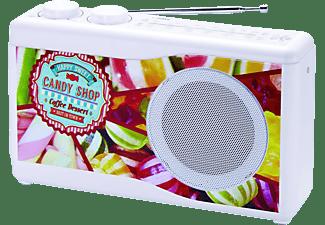 BIGBEN TR23 Candy Radio, 4-Band Analog, LW, KW, FM, AM, mehrfarbig