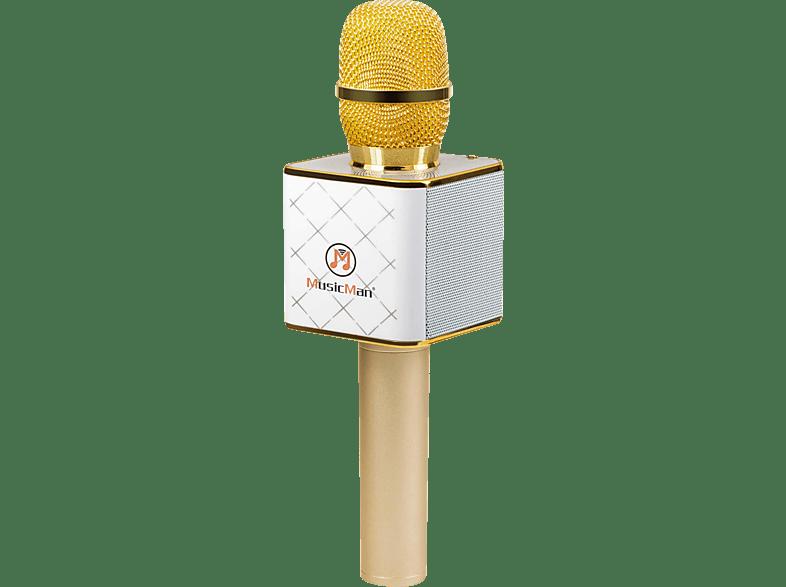 TECHNAXX BT-X31 Mikrofon, Weiß/Gold