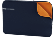 HAMA Neoprene Notebooktasche, Sleeve, 11.6 Zoll, Blau/Orange