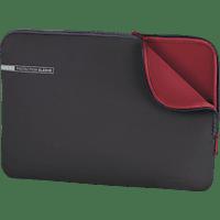 HAMA Neoprene Notebooktasche, Sleeve, 15.6 Zoll, Grau/Rot