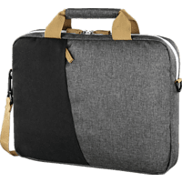 HAMA Florenz Notebooktasche, Aktentasche, 17.3 Zoll, Dunkelgrau/Schwarz