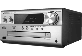 PANASONIC SC-PMX152 Kompaktanlage (Schwarz/Silber)