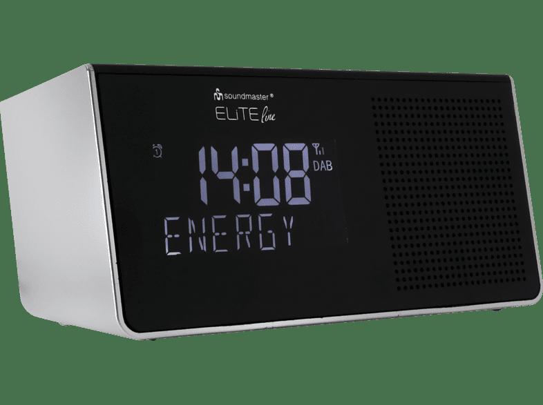 SOUNDMASTER UR 8200SI Radio-Wecker (Digital, DAB+, UKW, Silber)