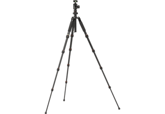 ROLLEI Compact Traveler No. 1 Dreibein Stativ, Schwarz, Höhe offen bis 1340 mm