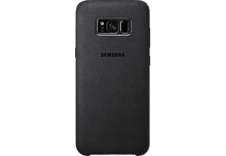 SAMSUNG Alcantara Cover, Backcover, Samsung, Galaxy S8+, Dark Gray