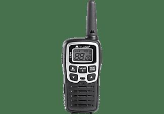 Walkie Talkie - Midland XT50, gris, 8km de alcance, 24 canales, manos libres, cargador sobremesa