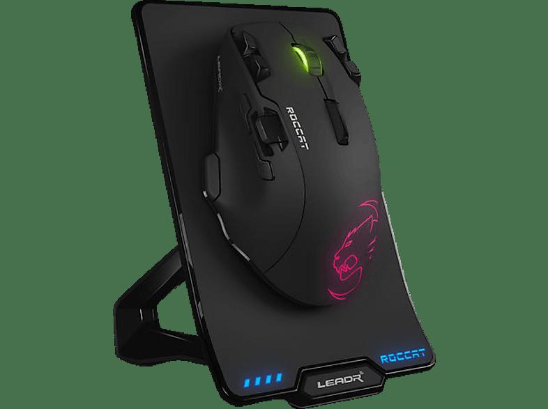 ROCCAT Leadr Gaming Maus, Schwarz