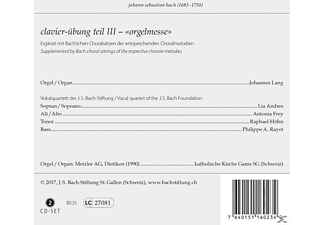 ANDRES, LIA  / FREY, ANTONIA  / HOHN, RAPHAEL  / A - Clavierübung Teil III-Orgelmesse  - (CD)