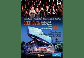 Camilla Nylund, Elena Zhidkova, Klaus Florian Vogt, Wiener Singverein, Tonkünstler Orchestra, European Union Youth Orchestra Alumni, René Pape - Sinfonie 9/Coriolan-Ouvertüre/+  - (DVD)