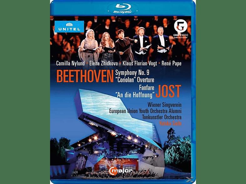 Sado/Nylund/Vogt/Pape/Wr.Singv - Sinfonie 9/Coriolan-Ouvertüre/+ [Blu-ray]