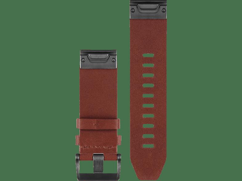 GARMIN Quickfit, Armband, GARMIN®, Approach® S60 / Fenix® 5 / Forerunner® 935 / Quatix® 3/5 Saphir, Braun