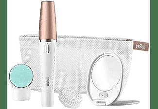 Depiladora facial - Braun Face 851 Beauty Edition, 3 cepillos faciales de limpieza y bolsa