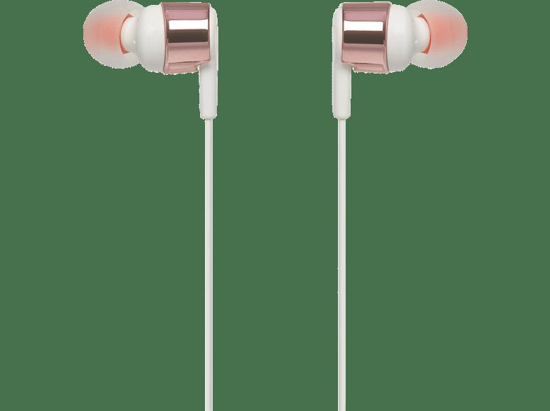 JBL T210, In-ear Kopfhörer  Rose Gold
