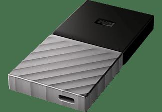WD My Passport™ SSD 512 GB, 512 GB SSD, extern, Schwarz/Silber