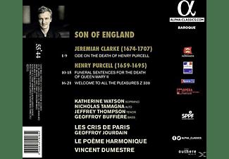Katherine Watson, Nicholas Tamagna, Le Poeme Harmonique, Les Cris De Paris - Ode on the Death of H.Purcell/Funeral Sentences  - (CD)