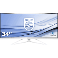 PHILIPS 349X7FJEW/00 34 Zoll WQHD Monitor (4 ms Reaktionszeit, FreeSync, 100 Hz)