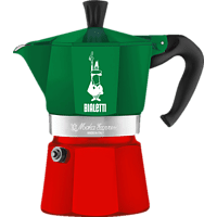 BIALETTI 5322 Moka Express Espressokocher Grün/Rot