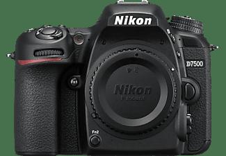 NIKON D7500 Body Spiegelreflexkamera, 4K/UHD, Touchscreen Display, WLAN, Schwarz