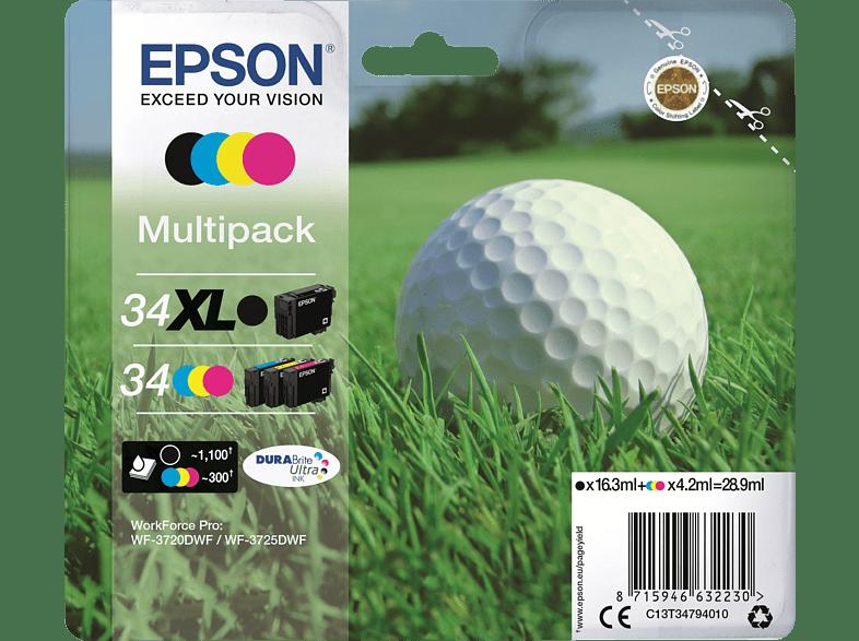 EPSON Original Tintenpatrone Golfball mehrfarbig (C13T34794010)