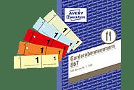 AVERY ZWECKFORM 867-5 Garderobennummern DIN A6 5er Pack