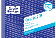 AVERY ZWECKFORM 300-5 Quittung inkl. MwSt. DIN A6 5er Pack