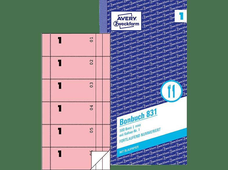 AVERY ZWECKFORM 831-5 Bonbuch 5er Pack