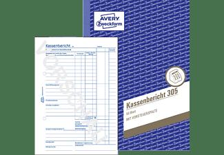 AVERY ZWECKFORM 305-5 Kassenbericht DIN A5 5er Pack, weiß