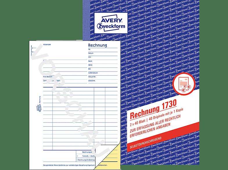 AVERY ZWECKFORM 1730-5 Rechnung DIN A5 5er Pack