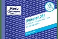 AVERY ZWECKFORM 361 Gutschein DIN A6 Querformat 2er Pack