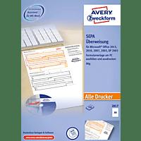 AVERY ZWECKFORM 2817 Sepa-Überweisung inkl. Software  DIN A4