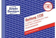 AVERY ZWECKFORM 1735-5 Quittung MwSt. separat ausgewiesen DIN A6 5er Pack