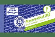 AVERY ZWECKFORM 868-5 Nummernblock 5er Pack