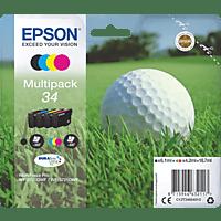 EPSON Original Tintenpatrone Golfball Multipack mehrfarbig (C13T34664010)