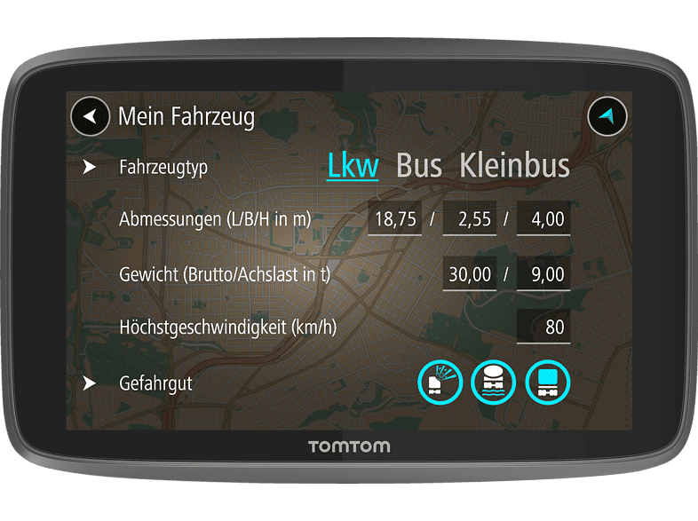 TOMTOM GO Professional 6200 Bus, LKW Europa
