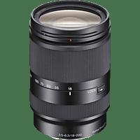 SONY 18 mm-200 mm f/3.5-6.3 OSS, ASPH, Circulare Blende (Objektiv für Sony E-Mount, Schwarz)