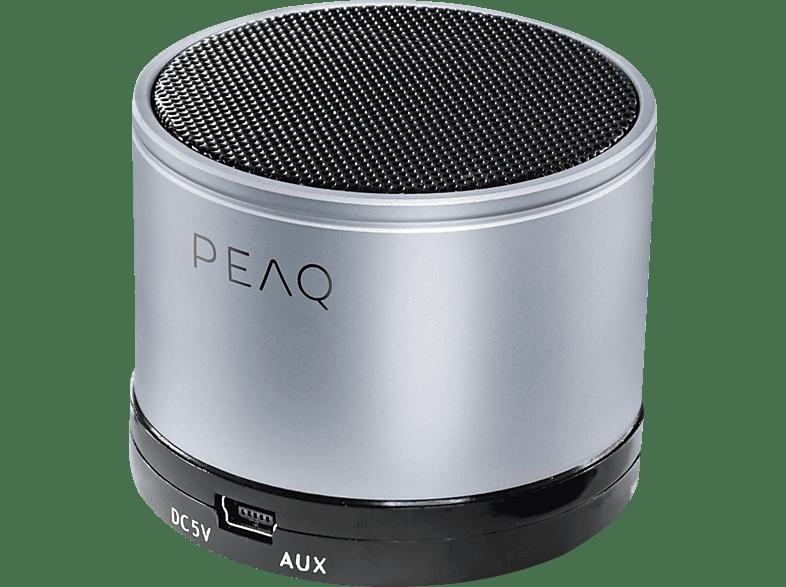 PEAQ PPA11BT-SL Bluetooth Lautsprecher, Silber